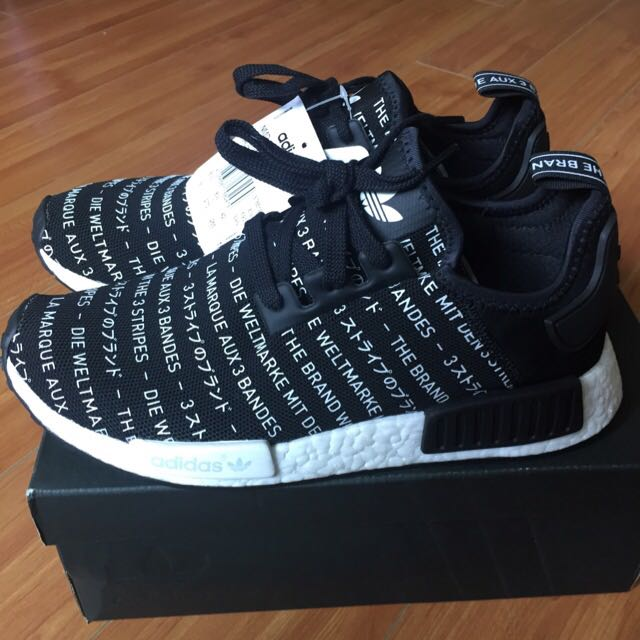the best attitude 5b1ea 00f33 Adidas Nmd R1 Blackout, Men's Fashion, Footwear on Carousell