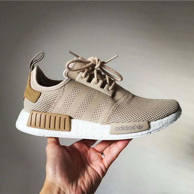 meet 287f2 51dc3 Adidas X Offspring NMD R1 Desert Sand Exclusive, Men s Fashion, Footwear on  Carousell