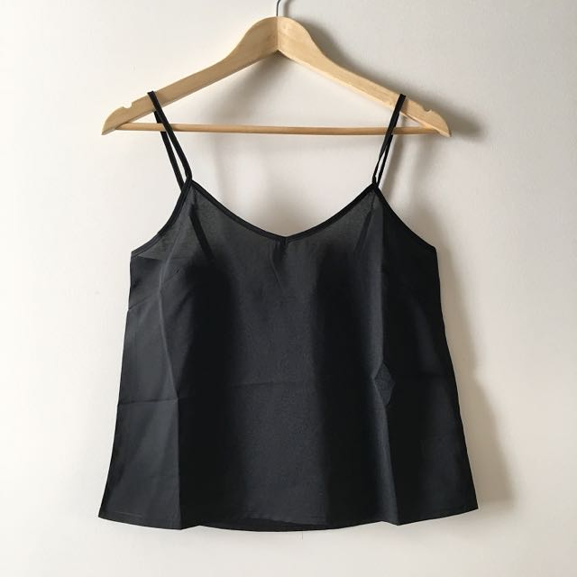 ATMOS & HERE Black Basic Cami
