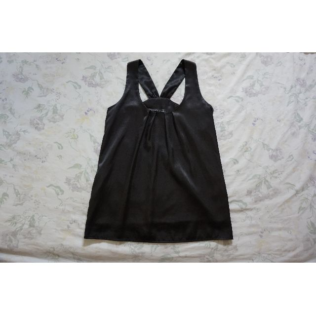 Backstage Black Satin Blouse Top Size 6 RRP $120.00