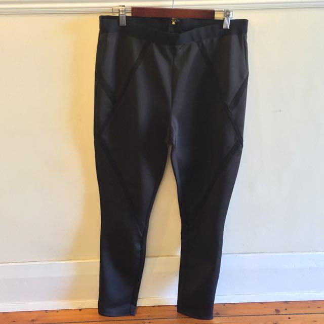 Bebe Black Stretch Pants Size L