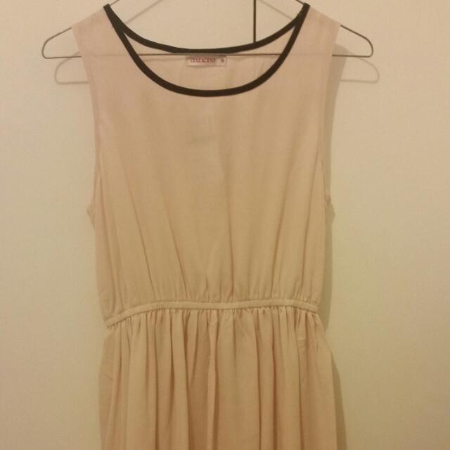 Beige Hi-Lo Dress BNWT