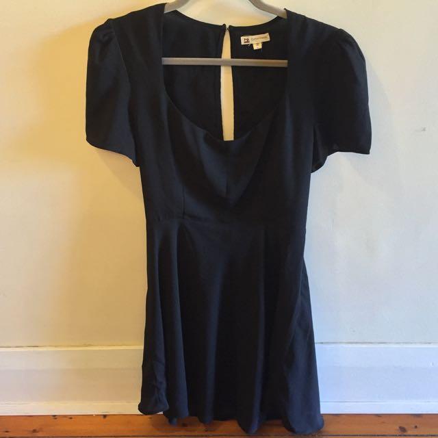 Black Cut Out Dress Size L