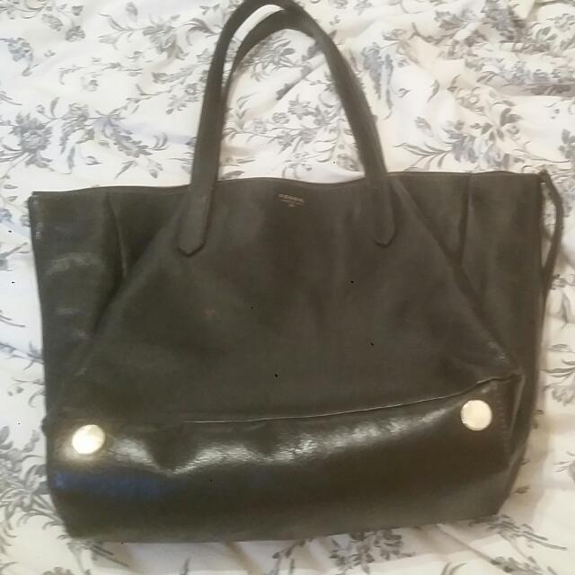 Black Fossil Purse