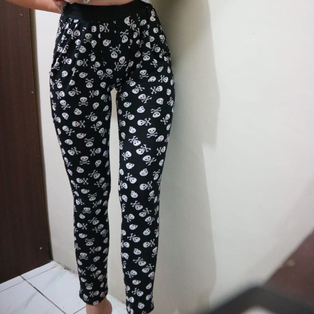 Black Skull Legging