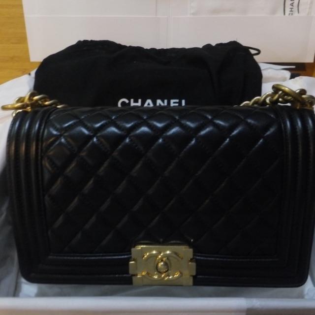 dd1d174ea073f3 Chanel Black Boy Leboy Lambskin A67086 Y07659 Shoulder Bag, Luxury, Bags &  Wallets on Carousell