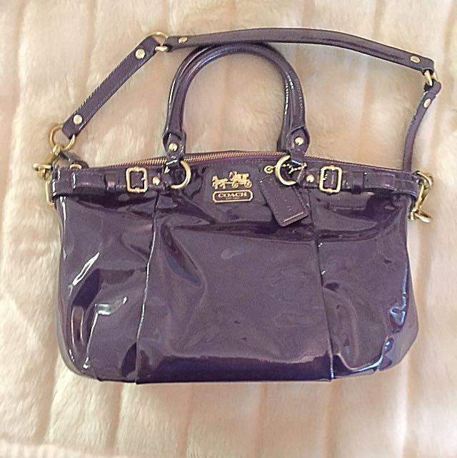COACH Patent Purple Handbag