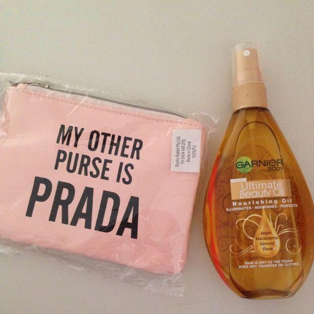 Garnier Beauty Oil + Small Purse