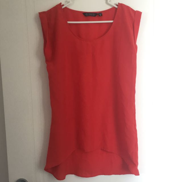 Glassons Red Blouse Top Size 8