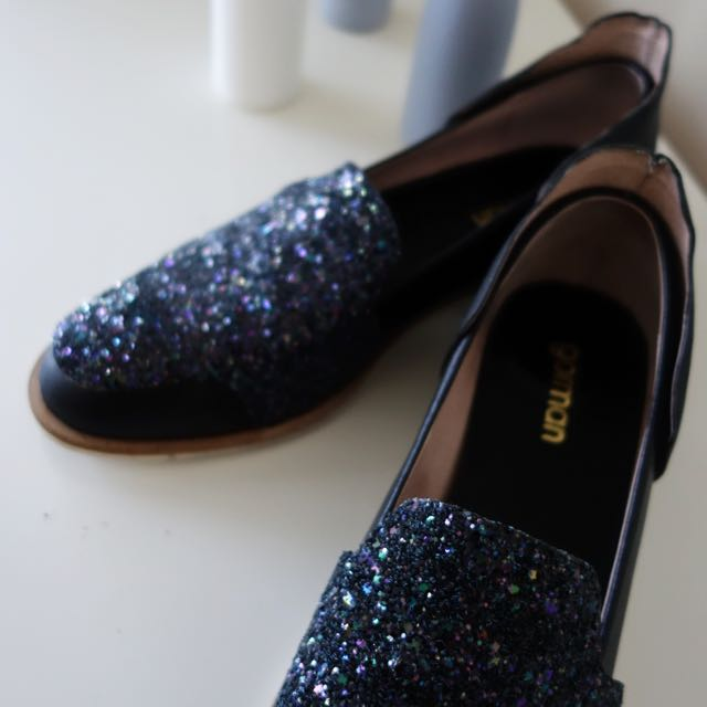 Gorman Sparkle Leather Lace-less Brogues