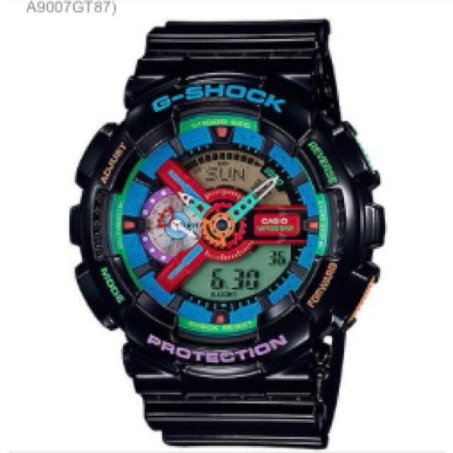 (代購)G-shock 瘋狂配色運動錶