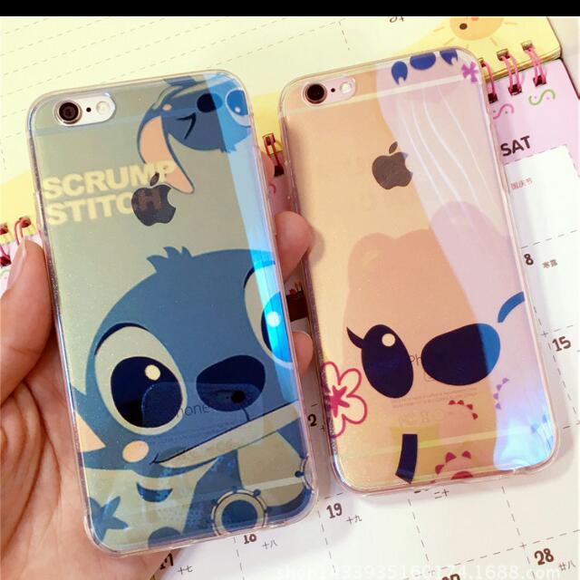 【預購期間買二送一】Iphone6 6s 6plus 史迪奇電鍍藍光軟殼保護套