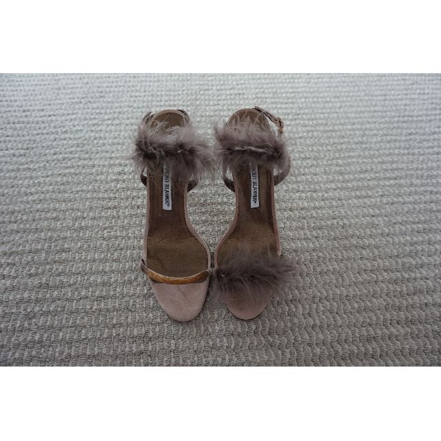 Manolo Blahnik Dusty Pink Leather Suede Heels Size 39 RRP US$353.00