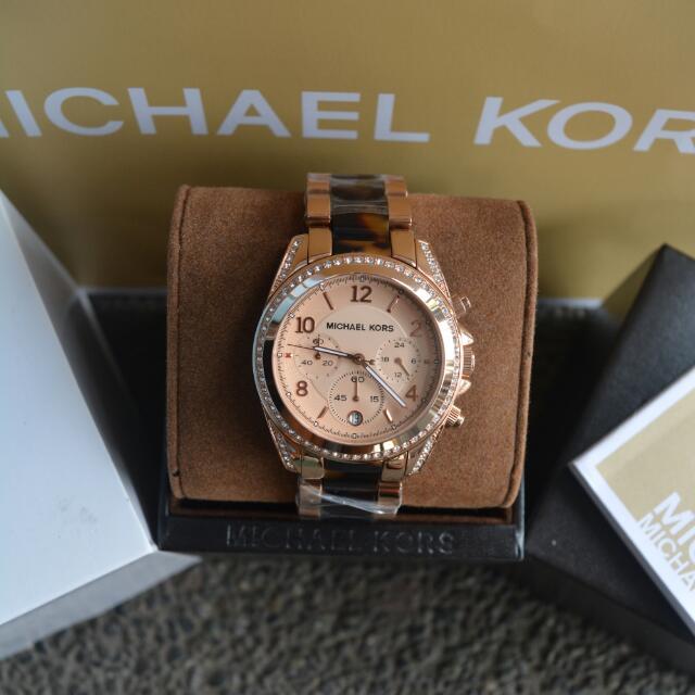 14c035b9a221 Michael Kors Blair Rosegold And Tortoise Ladies Watch (MK5859 ...