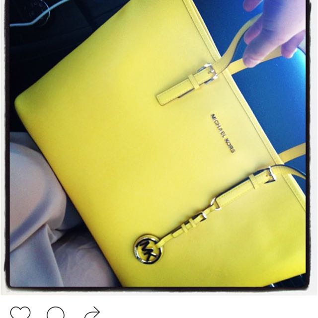 Michael Kors Yellow Tote
