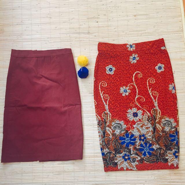 Midi And Batik Skirt