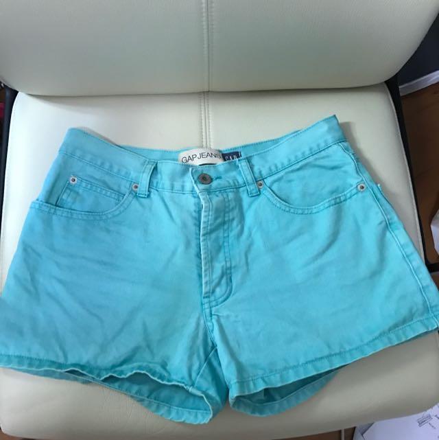 Mint Coloured Gap Shorts