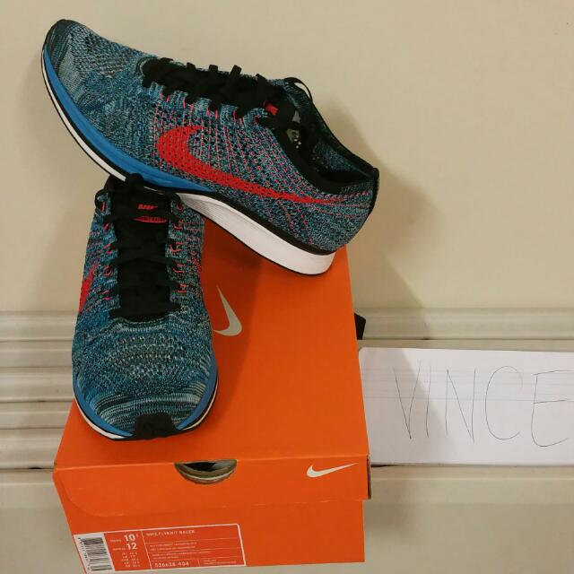 Nike Flyknit Racer (Bright Crimson) - Size: US 10.5