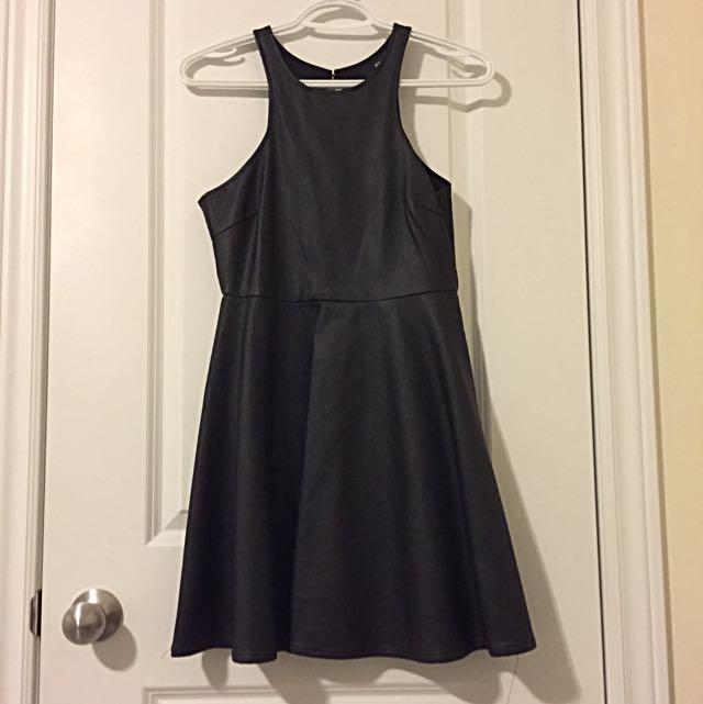 Nastygal Open Back Leather Dress