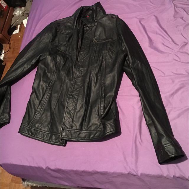 Quicksilver Faux Leather Jacket
