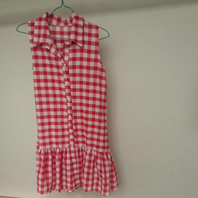 Red Checks Dress
