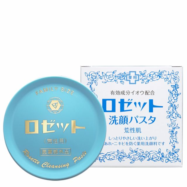 Rosette Face Wash Pasta for Dry Skin- Best selling long time Medicate 90g -Japan