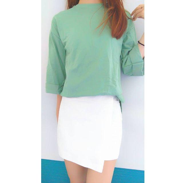 二手🌸顯瘦造型窄裙-白S