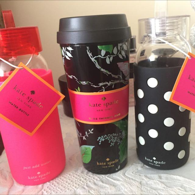 Selling 3 Kate Spade Bottles/Cup