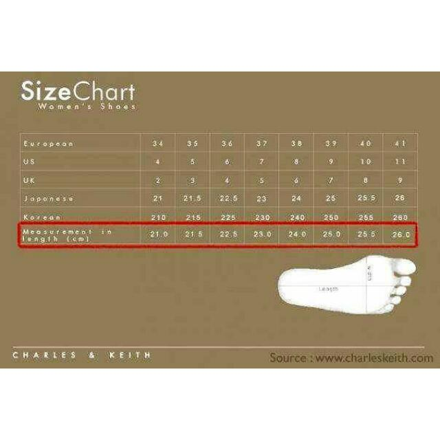 Size Chart For Shoes Community On Carousell