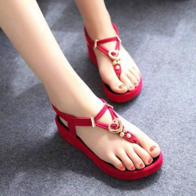 SMO Cute Suede Leather Beads Strappy Sandals