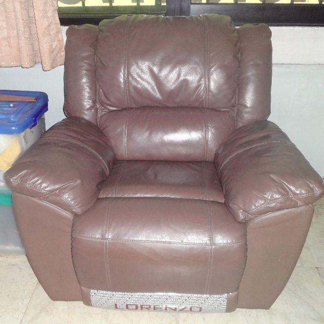 Sofa Leather Recliner Lorenzo Home