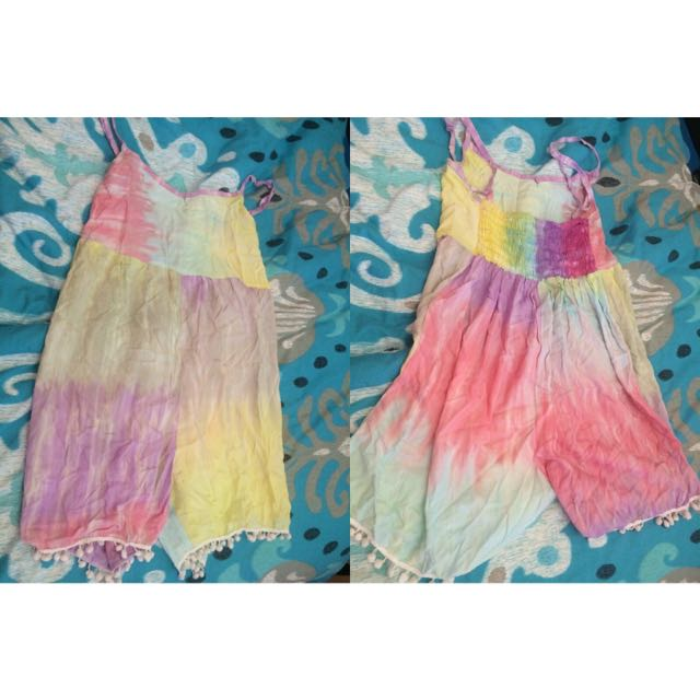Tie Dye Playsuit From Markets
