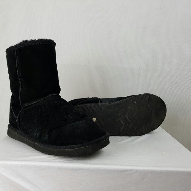 Ugg Boots Mens Aussie Lands Size 10 Black
