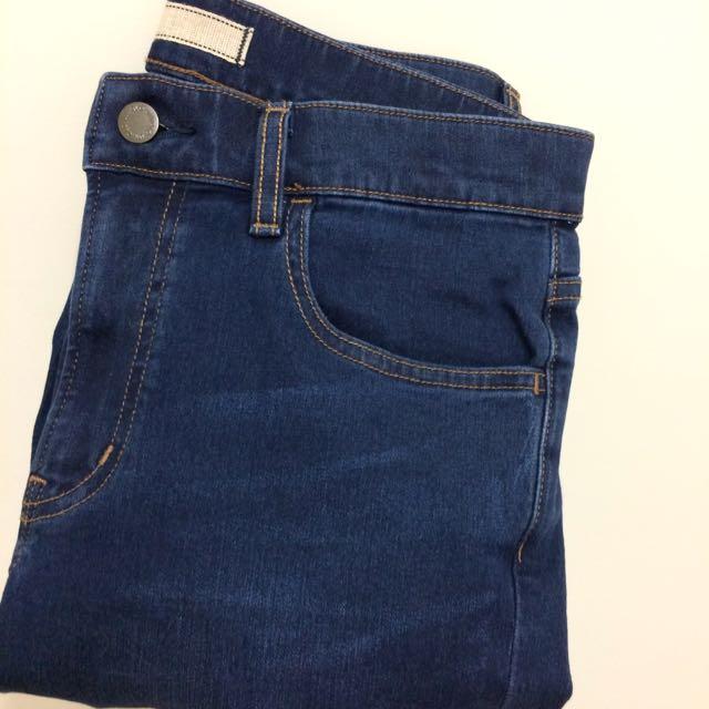 UNIQLO 彈性Slim Fit 窄管牛仔褲 藍色