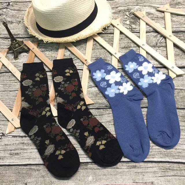 立體花花造型襪子