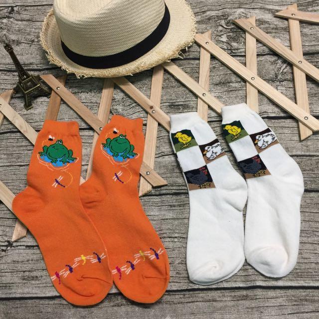 蜻蜓點水蛙VS放山雞襪子