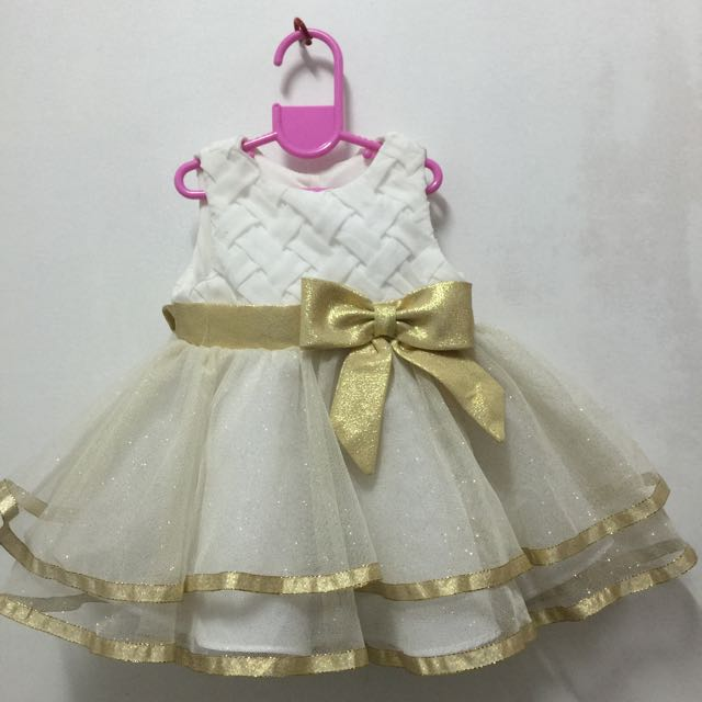 White Ball Gown For Baby
