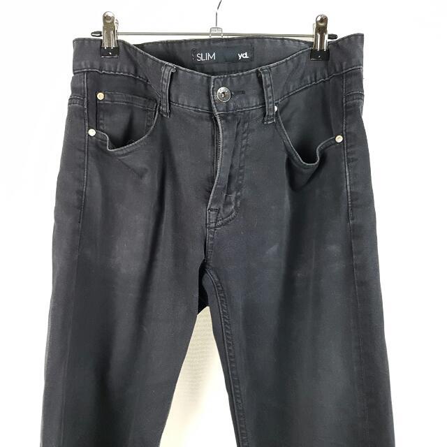 YD Slim Cotton Pants Black Size 30