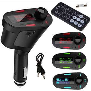 Pipe Shape Car Kit Mp3 Player With Fm Transmitter