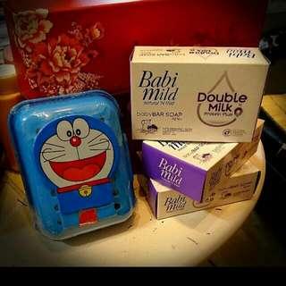寶寶專用 牛奶皂 三個一組送叮噹肥皂盒