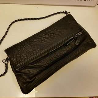Real Leather Cluth/Shoulder Bag 全皮两用手提包