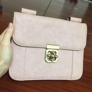 正韓粉色信封包/斜肩包/側包/小包