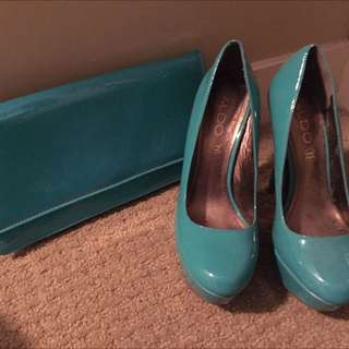 Selling Size 7 Aldo Heels And Matching Clutch!