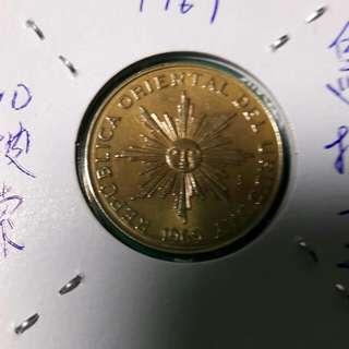 1969年 烏拉圭 10披索兩枚