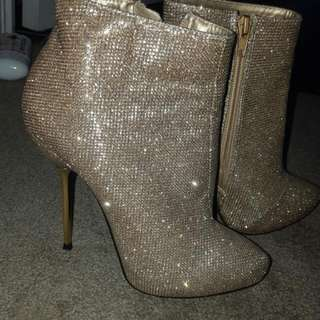 Gold Booties Size 6