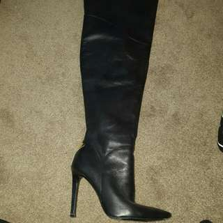 Marciano Knee High Leather Boots Sz 5.5