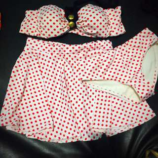 Bandeau Bikini W/ Skirt
