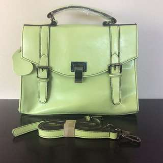 Leather Satchel Cross Body or Handheld Handbag