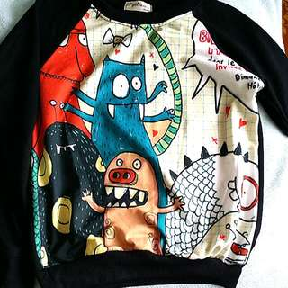 Monsters Graphic Pullover