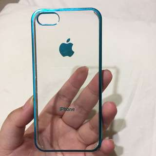 Clear Case Ip5/5s (blue Metalic)